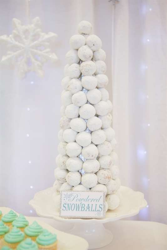 White Donut Tree | Winter Wonderland Party Ideas