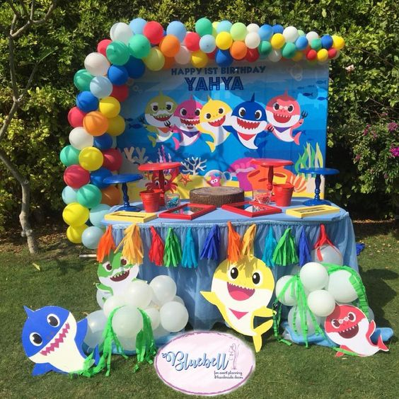 17 Cute Baby Shark Party Ideas Pretty My Party Party Ideas