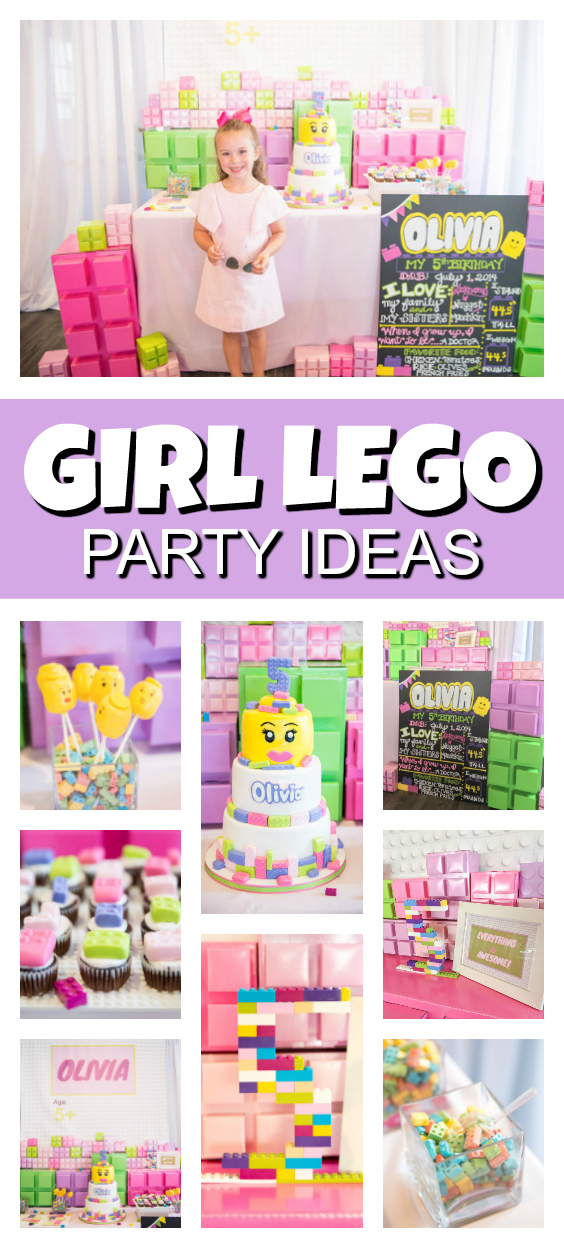 Girl Themed Lego Party Pretty My Party Party Ideas
