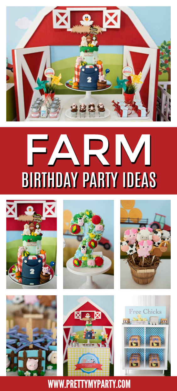 Farm Animal Themed 2nd Birthday Party Pretty My Party Party Ideas
