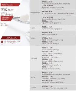 Godziny przyjęć specjalistów w Centrum Medycznym Ant-Med w Żołyni