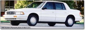 1990 Plymouth Acclaim  Information and photos  ZombieDrive