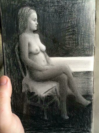 A one hour Drawing from a Nude Model