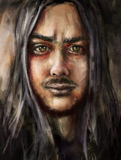 Zombielocky a digital self portrait speed painting