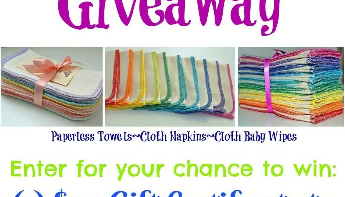 $50 Gift Certificate to Gina's Soft Cloth Shop