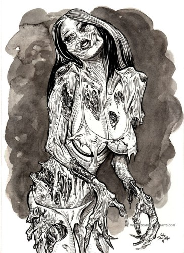 Sexy Zombie Girl Pin Up