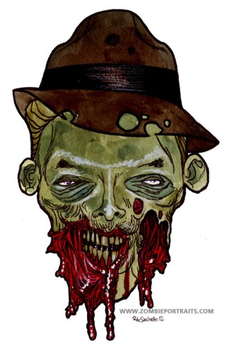 gumshoe zombie artwork