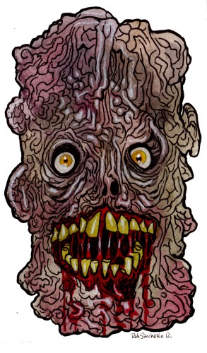hotld ghastly wrinkle face zombie