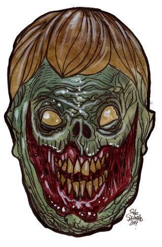 laughing dead zombie head