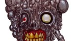 Zombie Art : Rare Walking Zombie Head - Zombie Art by Rob Sacchetto