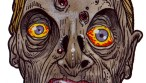 Zombie Art Startled Hungry Head Zombie