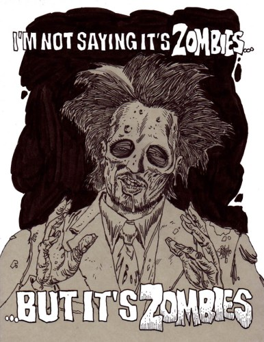 Zombie Art 'It's Aliens' Meme Zombie Art by Rob Sacchetto