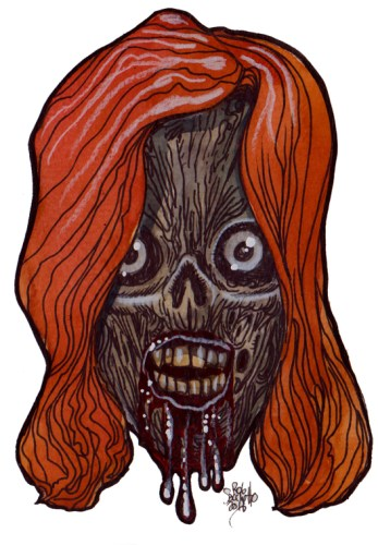 Zombie Art : Ravaged Red Head Zombie Art by Rob Sacchetto