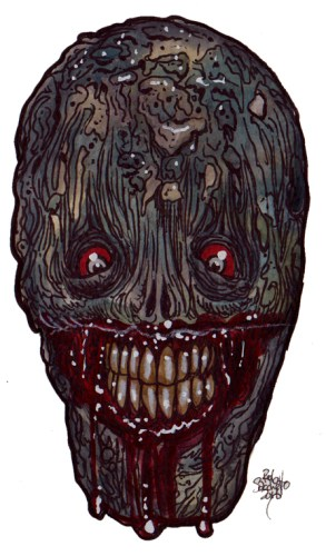 Zombie Art : Grinning Biter Zombie Art by Rob Sacchetto