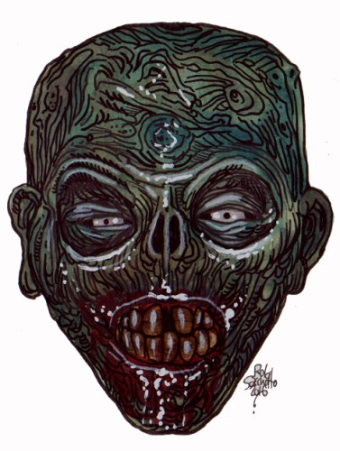 Zombie Art : Tooth Rotter Zombie Art by Rob Sacchetto