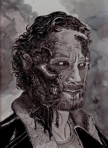 Zombie Art : Zombie Rick #TWD Zombie Art by Rob Sacchetto