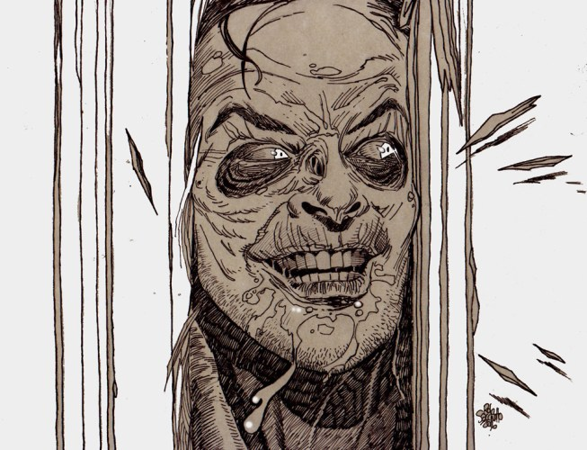 Zombie Art : The Shining, Here's Zombie! Zombie Art by Rob Sacchetto