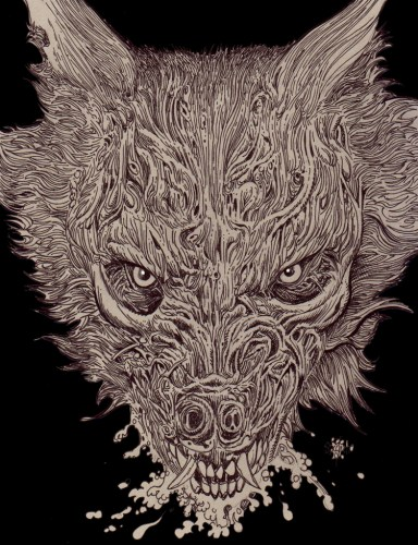 Zombie Art : Zombie Wolf Close Up! Zombie Art by Rob Sacchetto