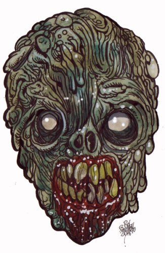 Zombie Art : Reanimate-Head Zombie Art by Rob Sacchetto