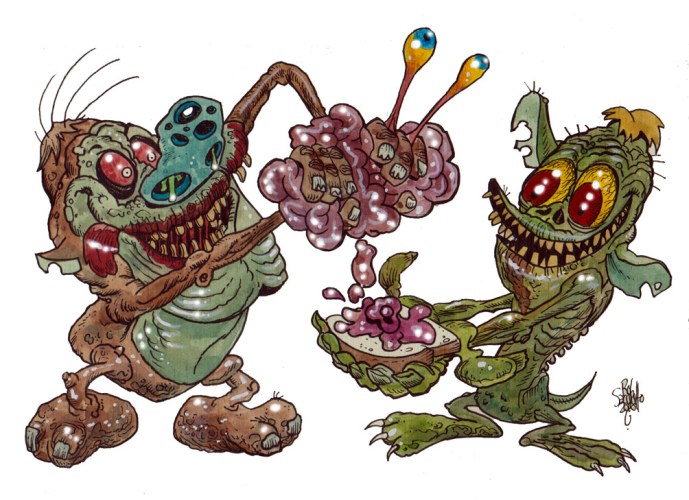 Zombie Art : Ren and Stimpy Zombie Art by Rob Sacchetto