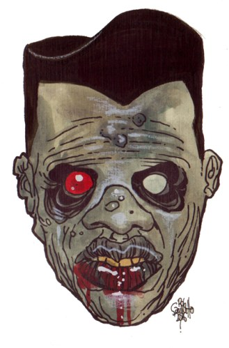 Zombie Art : High and Tight Zombie Art by Rob Sacchetto