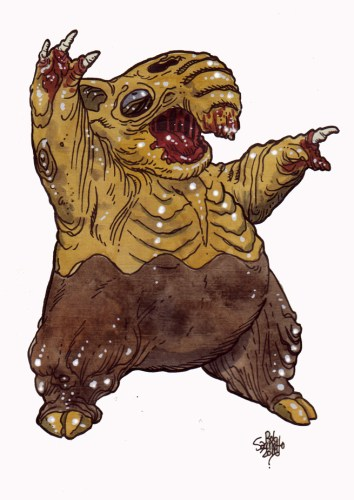 Zombie Art : Drowzee Pokemon GO! Zombie Art by Rob Sacchetto