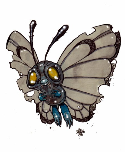 Zombie Art : Butterfree Pokemon Zombie Art by Rob Sacchetto