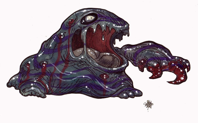 Zombie Art : Muk Pokemon Zombie Art by Rob Sacchetto