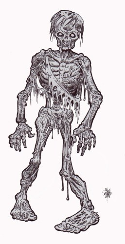 Zombie Art : Walking Dead Ink Zombie Art by Rob Sacchetto
