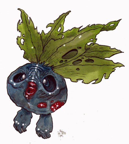 Zombie Art Oddish Pokemon Zombie Art by Rob Sacchetto