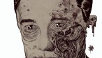 Zombie Art : Robert Vaughn Portrait Zombie Art by Rob Sacchetto