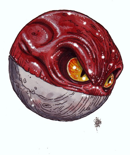 Zombie Art : Voltorb Pokemon Zombie Art by Rob Sacchetto