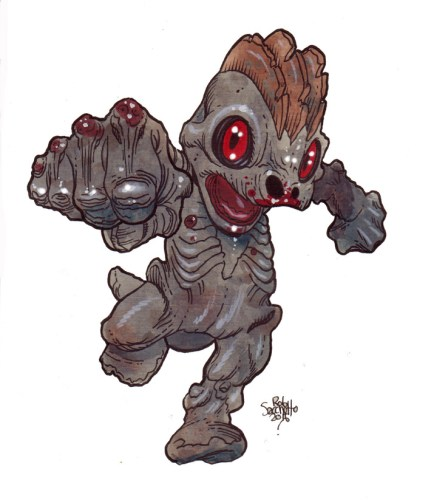 Zombie Art : Machop Pokemon