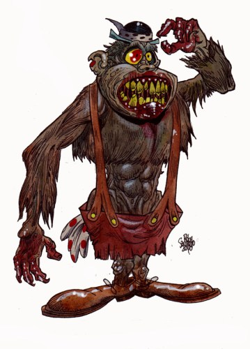 Zombie Art Magilla Gorilla Zombie Art by Rob Sacchetto