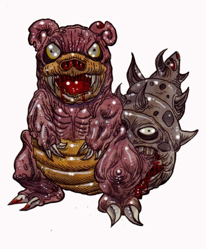 Zombie Art : Slowbro Pokemon Zombie Art by Rob Sacchetto