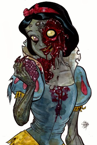 Zombie Art : Snow White Disney Zombie Art by Rob Sacchetto