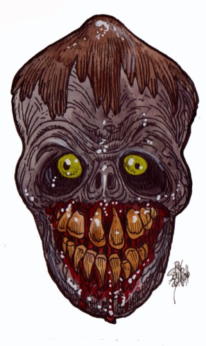 Zombie Art : Joke Teeth Zombie Art by Rob Sacchetto