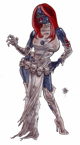 Zombie Art : Mystique X-Men