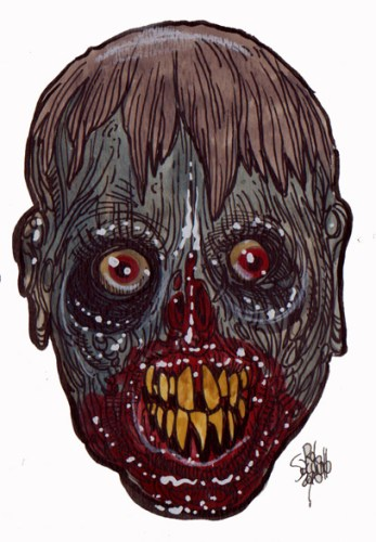 Zombie Art : Rot Boy Zombie Art by Rob Sacchetto