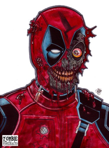 Zombie Art : Zombie Deadpool Zombie Art by Rob Sacchetto