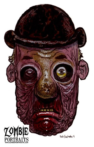 Zombie Art : Derby Zombie Art by Rob Sacchetto