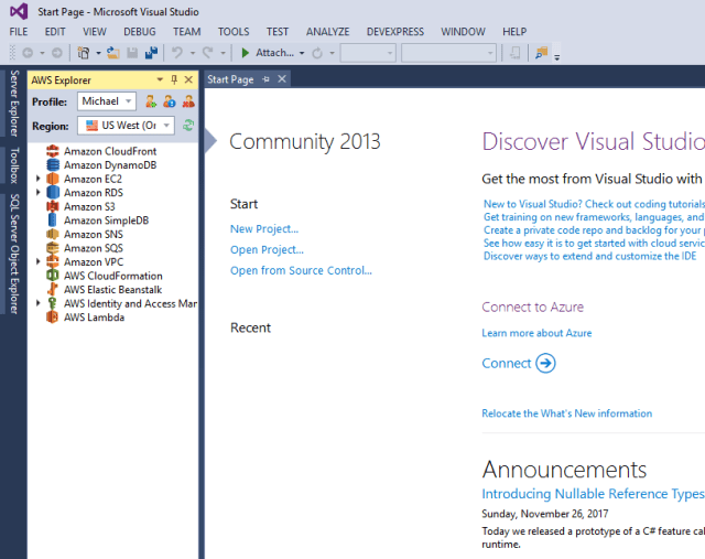 Install AWS Toolkit for Visual Studio 2013 – Zombie Programmer