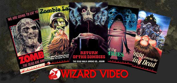 VINTAGE VHS ZOMBIE BOX ART