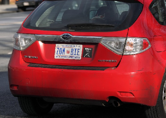 Zombie License Plate 2