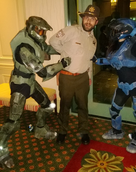 When Master Chief meets Rick Grimes...