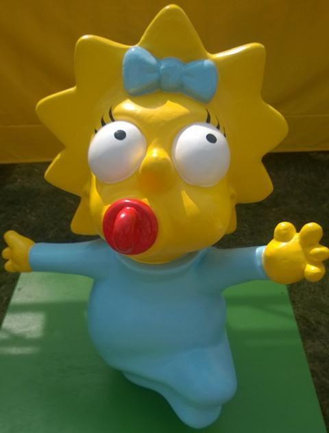 Maggie Simpson statue