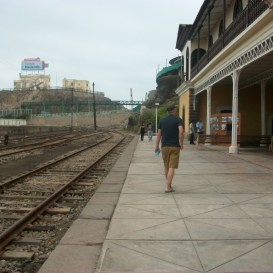 het oude treinstation van mollendo