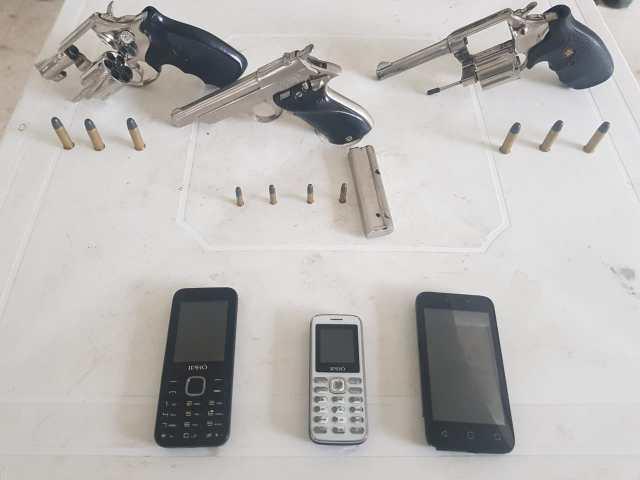 Elementos incautados por la Policía.
