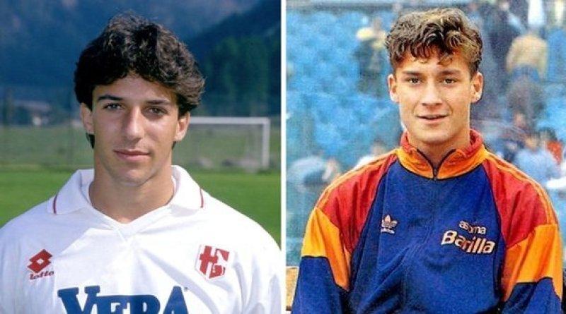 Torneo di Viareggio, 1993. Alessandro Del Piero e Francesco Totti