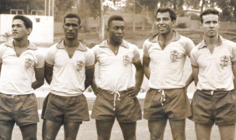 L'attacco del Brasile alla vigilia di Cile 1962: Garrincha, Didi, Pelé, Vavà e Zagallo
